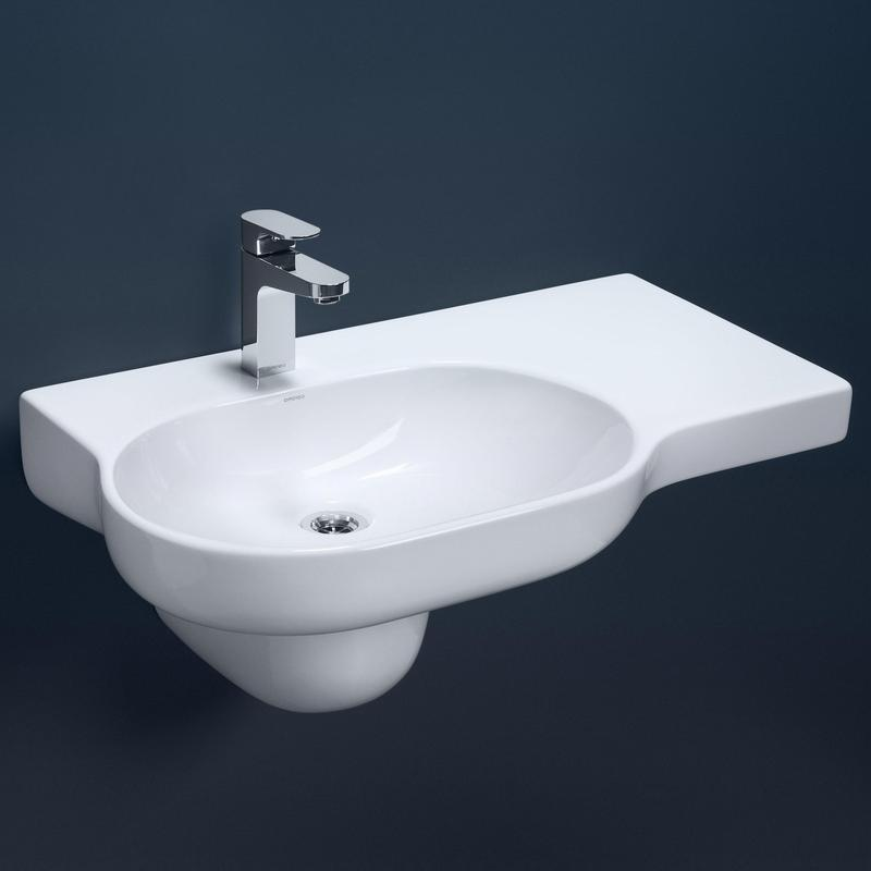 Caroma Opal 720 Right Hand Shelf Wall Basin Design Content