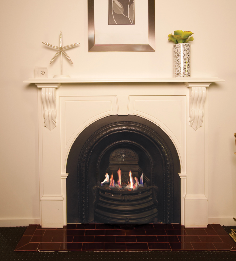 Fireplace-Gas-Real Flame-Zero Clearance.jpg - Zero Clearance Gas Fireplace - Design Content