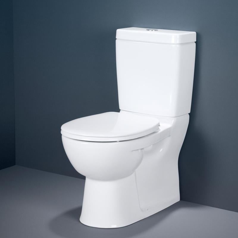 Caroma Stirling Vitreous China 4 5 3 Litre Dual Flush Wall Faced Close Couple