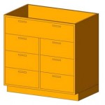 Download CAD files for Base Cabinet-7 Drawers