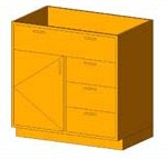 Download CAD files for Base Cabinet-Combo01