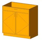 Download CAD files for Base Cabinet-Double Door & 1 Drawer