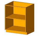 Download CAD files for Base Cabinet-Shelf Unit
