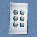 Download CAD files for C-Bus Wireless Wall Switch 6Button 2Channel 5886R4F1AA