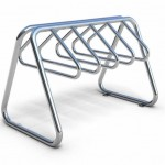 Download CAD files for Outdoor Bicycle Racks-Unisite Atessa Stainless Steel