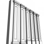 Download CAD files for Uni-Shape Recessed Square Pilaster