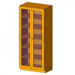 Download CAD files for Tall Cabinet-Double Door w Glass
