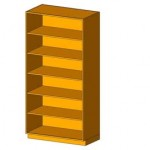 Download CAD files for Tall Cabinet-Shelf Unit