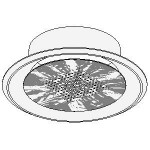 Download CAD files for Environmental Ceiling Outlet ECO-A Face Based