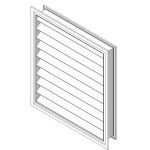 Download CAD files for Outside Louver OHL-F-124 supply