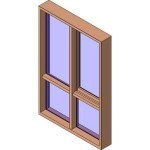 Download CAD files for MERANTI Awning Window 2+Lowlite