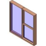 Download CAD files for MERANTI Tilt Double Hung Two Lite