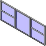 Download CAD files for QLD Standard Double Hung Triple Lite