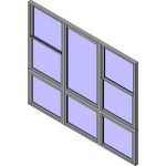 Download CAD files for QLD Wide Style Double Hung Triple Lowlite