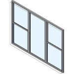 Download CAD files for Wide Style Double Hung Triple Lite