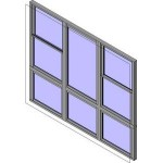 Download CAD files for Wide Style Double Hung Triple Lowlite