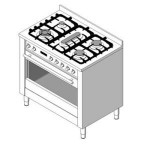 Download CAD files for 900W Free standing oven