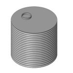Download CAD files for Round 3000L rain water tank