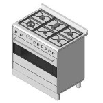 Download CAD files for 90cm FreeStanding_Oven