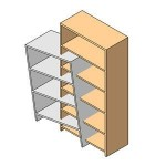 Download CAD files for Artistic style shelving