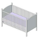 Download CAD files for Crib