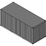Download CAD files for Shipping Container 20ft
