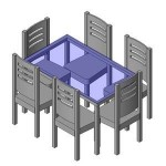 Download CAD files for FURN -_Dinning_Suite_-_6_Seats