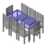 Download CAD files for FURN -_Dinning_Suite_-_8_Seats