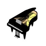 Download CAD files for Grand Piano