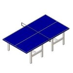 Download CAD files for Table Tennis Blue