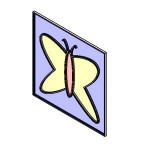 Download CAD files for Stain glass_butterfly
