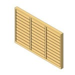 Download CAD files for 3 Bay Louver window
