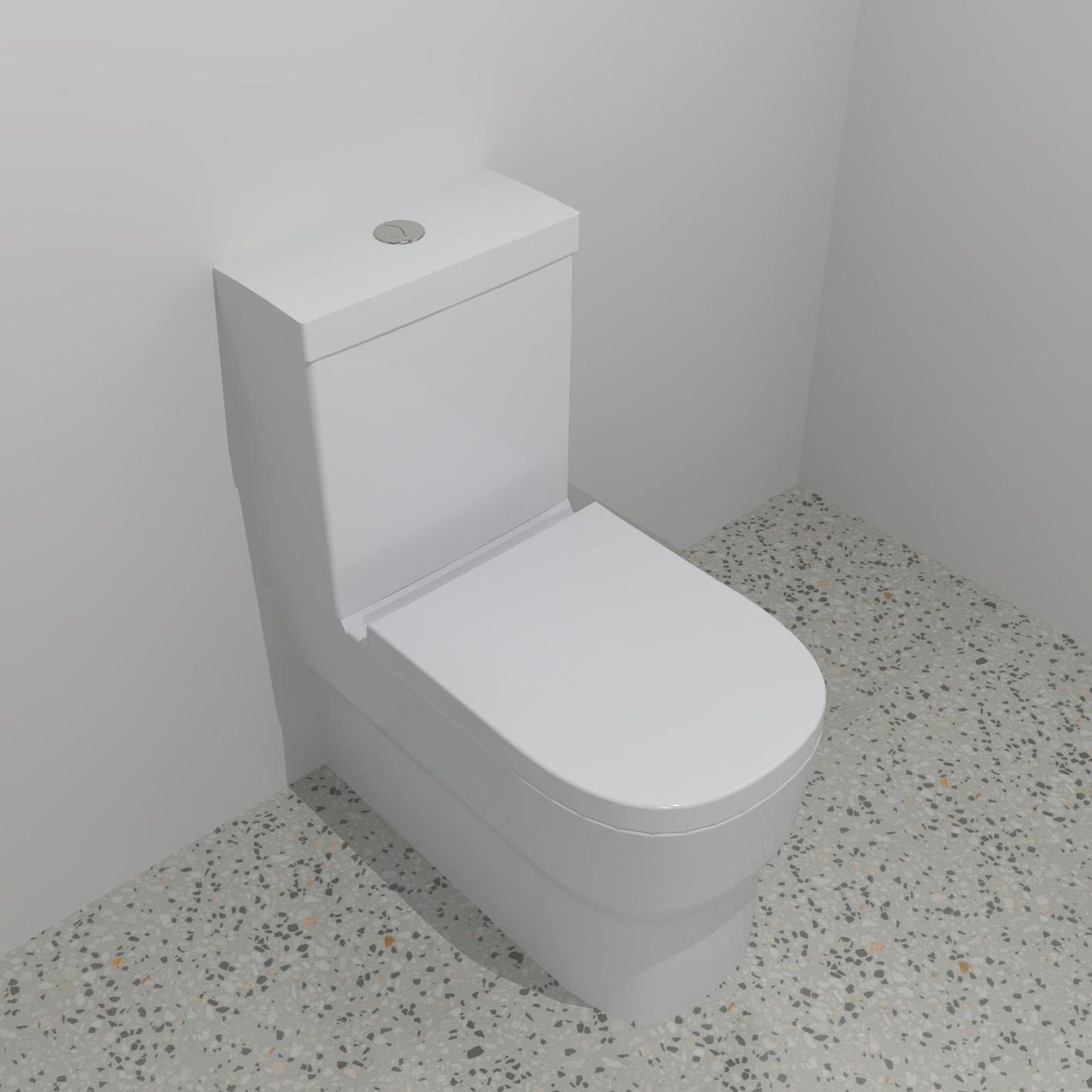 Stylus Alpine Wall Faced Close Coupled Toilet Suite