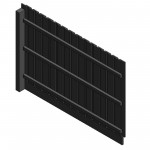 Download CAD files for AU Fence panel – Pailing Var-height
