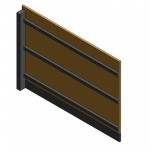 Download CAD files for AU Fence panel – Panel 2000 high