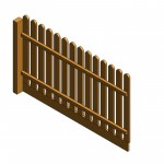 Download CAD files for AU Fence panel – Picket  (round top) Var-height
