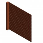 Download CAD files for AU Fence panel – Rail Var-height