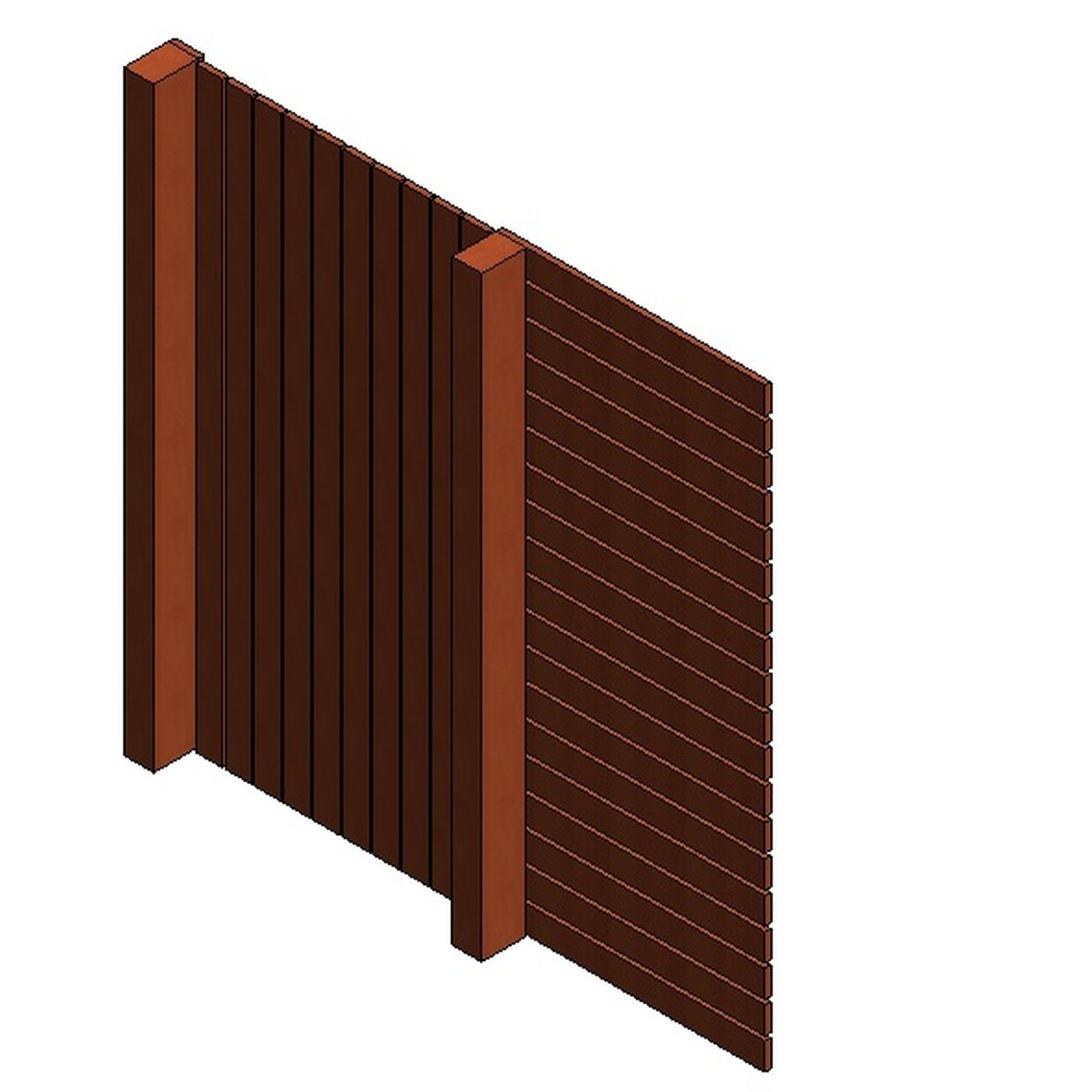 Au Fence Panel Rail Var Height With Gate Design Content