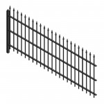 Download CAD files for AU Fence wrought panel