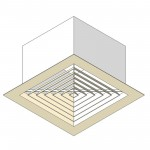 Download CAD files for Air conditioning vent (ceiling based)