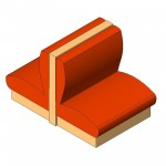 Download CAD files for Banquette – Double