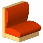 Download CAD files for Banquette – Single