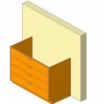 Download CAD files for Base Cabinet-4 Drawers-Wall