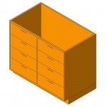Download CAD files for Base Cabinet-4 Drawers Double