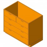 Download CAD files for Base Cabinet-5 Drawers