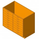 Download CAD files for Base Cabinet-8 Drawers Double