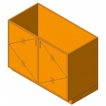 Download CAD files for Base Cabinet-Acid Storage Unit