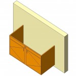 Download CAD files for Base Cabinet-End Sink Unit-Wall