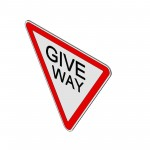 Download CAD files for Give Way Sign