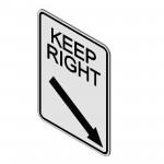 Download CAD files for Keep Right Sign